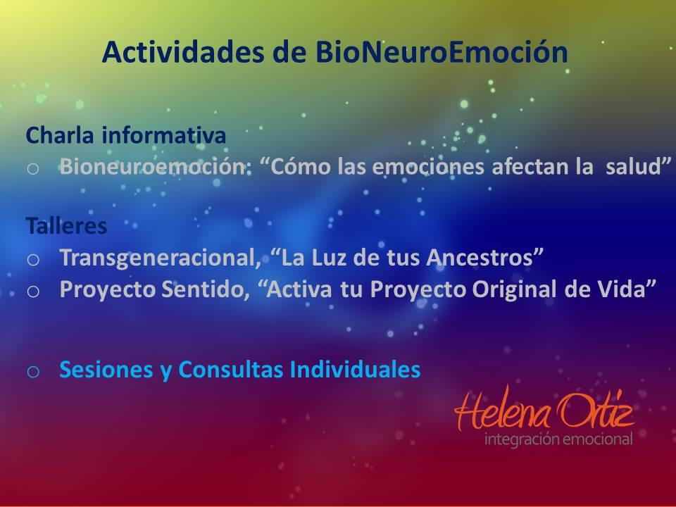 Actividades de BioNeuroEmoción